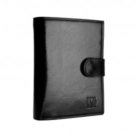 Czarny skórzany portfel męski PM-42s
