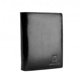 Czarny skórzany portfel męski PM-607B