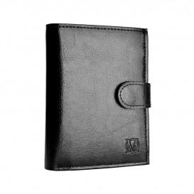 Czarny skórzany portfel męski PM-42b