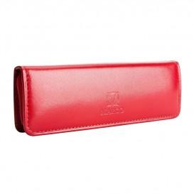 Skórzany piórnik na długopisy E-25S czerwony