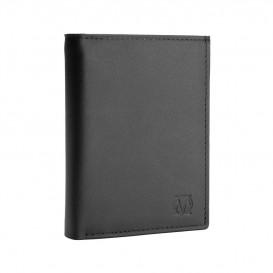 Czarny skórzany portfel męski PM-02