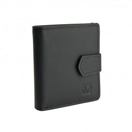 Czarny skórzany mini portfel PM-238