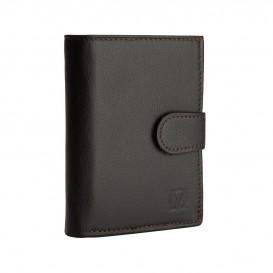 Brązowy skórzany portfel męski PM-233