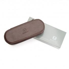 Skórzany piórnik na długopisy E-04S brązowy