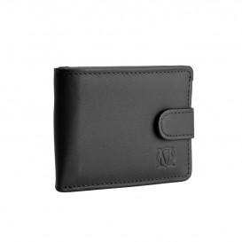 Czarny skórzany mini portfel PM-246