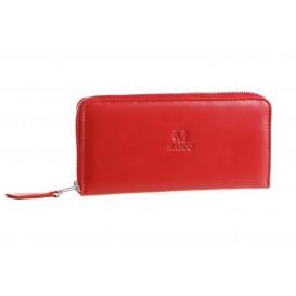 Skórzana portmonetka damska PD-243 czerwona