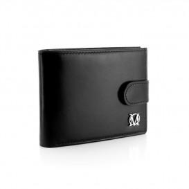Czarny skórzany mini portfel PM-232s