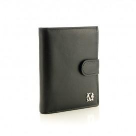 Czarny skórzany portfel męski PM-42