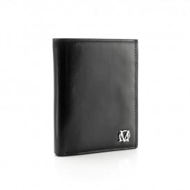 Czarny skórzany portfel męski PM-02S