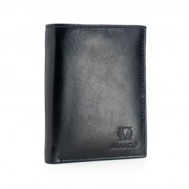 Czarny skórzany portfel męski PM-610B