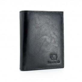 Czarny skórzany portfel męski PM-611B
