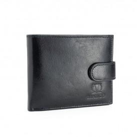 Skórzany czarny portfel męski PM-612B