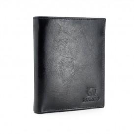 Czarny skórzany portfel męski PM-613B