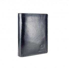 Czarny skórzany portfel męski PM-125
