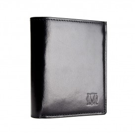 Czarny skórzany portfel męski PM-44s