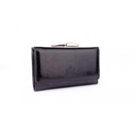 Black leather women's wallet