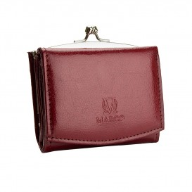 Claret small leather women's wallet