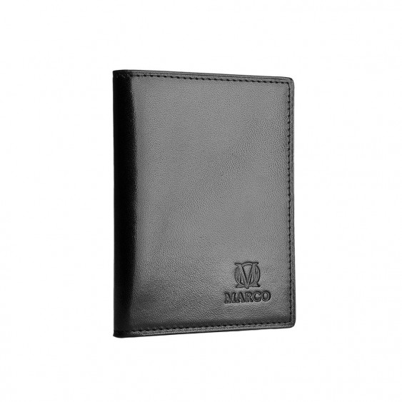 Black leather credit card and ID holder
