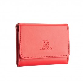 Red small leather women's wallet
