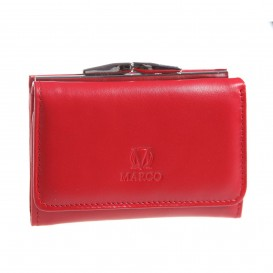 Red leather women's bag