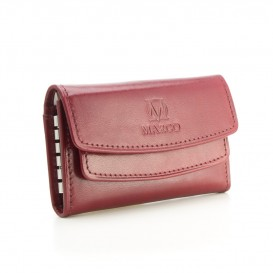 Claret leather key case