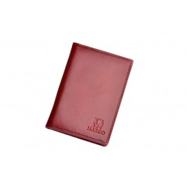 Claret leahther credit card and ID holder