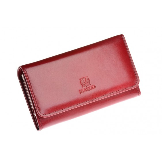 Claret leather wallet