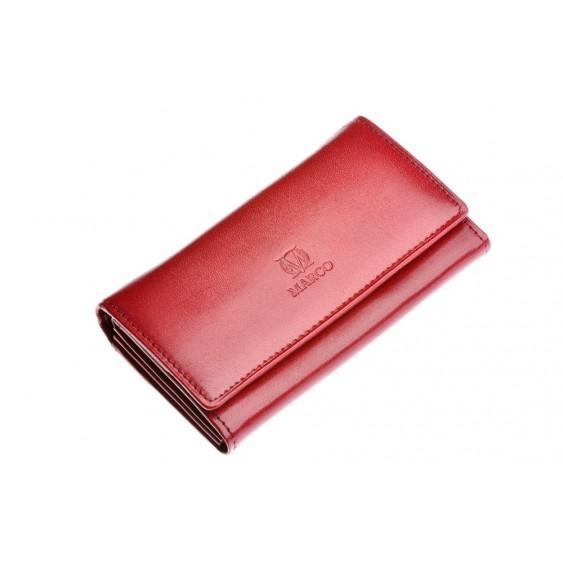 Claret leather women's wallet