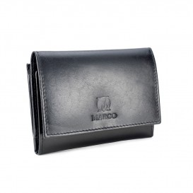 Black leather women's wallet