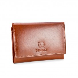 Brandy leather women's wallet