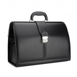 Black leather doctor's bag