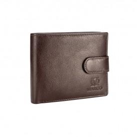 Brązowy skórzany portfel męski