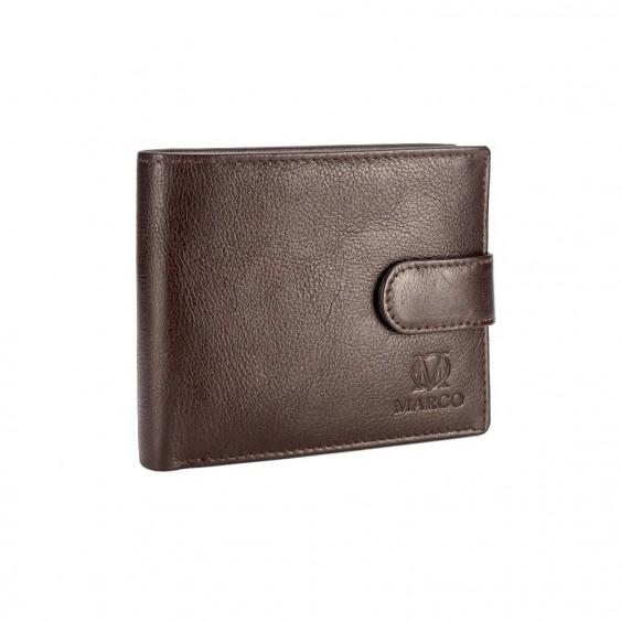 Brown leather men's wallet