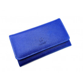 Blue leather wallet