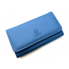 Blue leather women's wallet