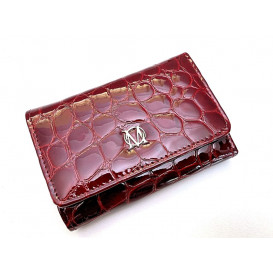 Claret leather women's wallet