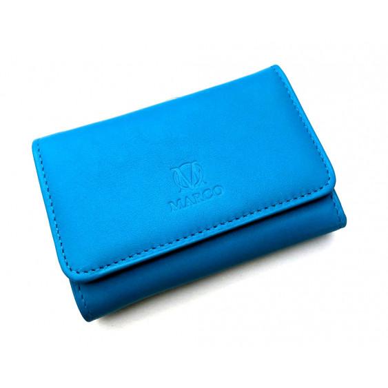 Blue leather women's wallet