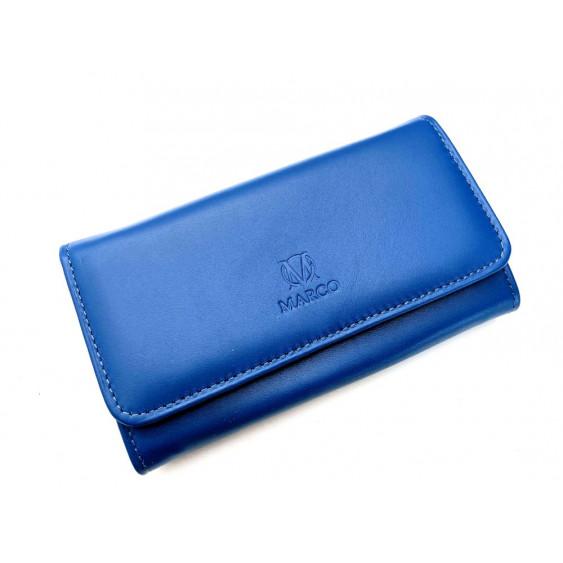Navy blue leather women's wallet