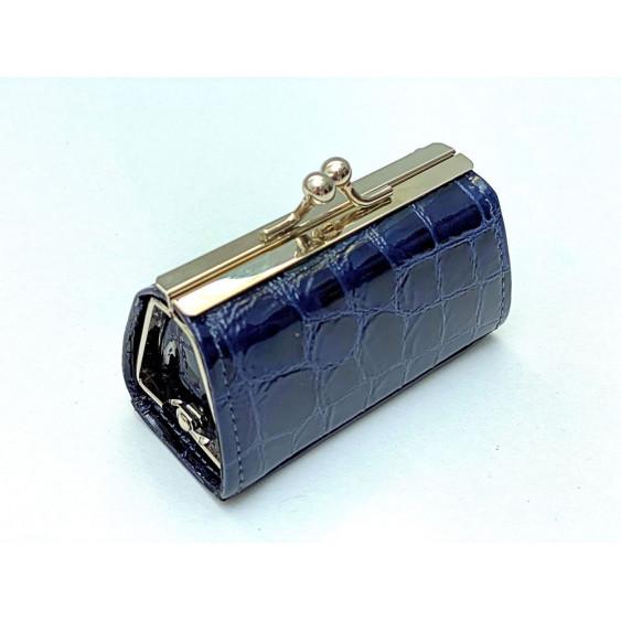 Navy blue leather vanity case