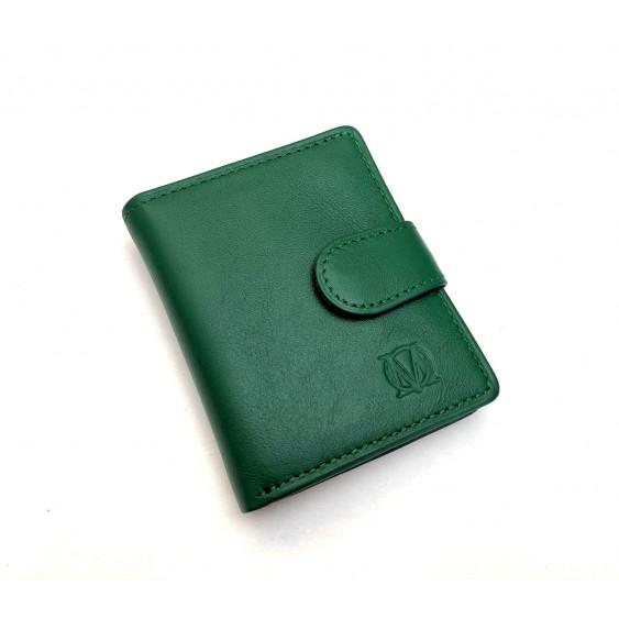 Green leather women's wallet