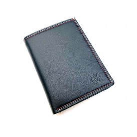 Navy blue leather men's wallet