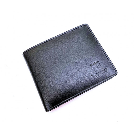 Black leather men's wallet