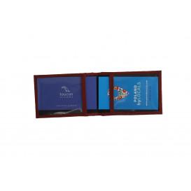 Małe bordowe etui na wizytówki i karty