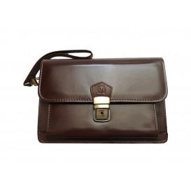 Brown leather murse