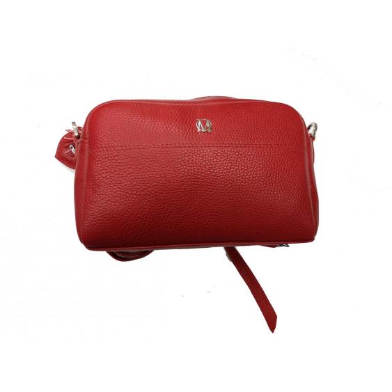 Czerwona skózana torebka