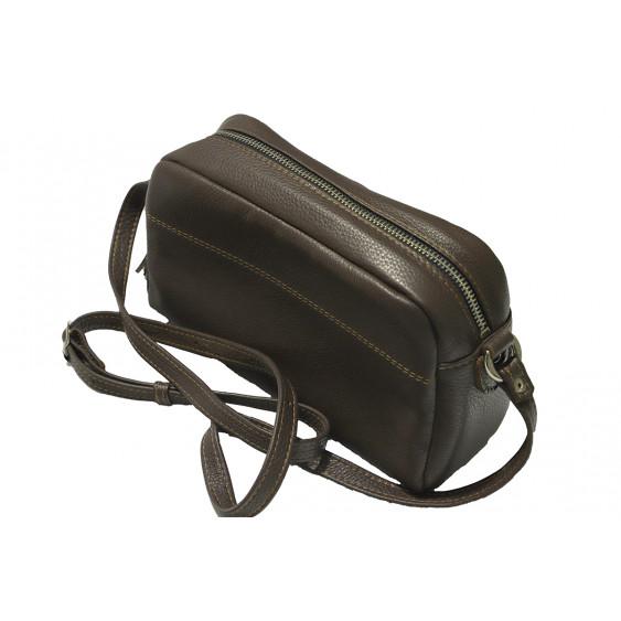 Brązaowa skórzana torebka