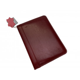 Claret leather personal case