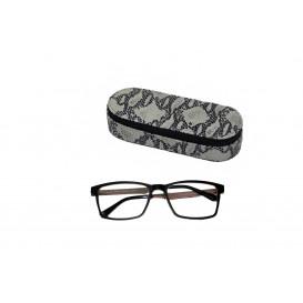 Piórnik z miejscem na okulary ze specjalnej skóry