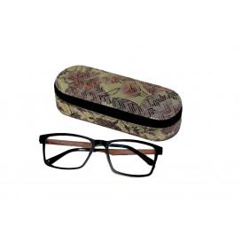 Piórnik z miejscem na okulary ze specjalnej skórzy