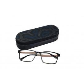 Skórzany piórnik z miejscem na okulary ze specjalne skóry